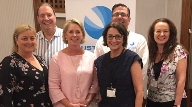Pictured above, from left to right are: Jay McKenzie (Bob Wood Cruise Group); Grant Gilfillan (Chair, ACA); Jill Abel (CEO, ACA), Thor Elliott (Fremantle Ports); Anne McVilly (Port Arthur Historic Site) and Christine Cole (Tourism WA).