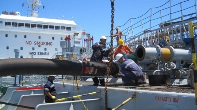 Kleline hoses used in STS transfer