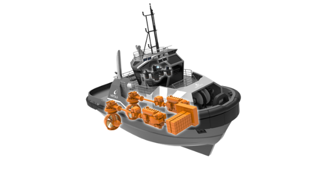 The innovative Wärtsilä HY hybrid power module establishes a new benchmark in hybrid marine propulsion.