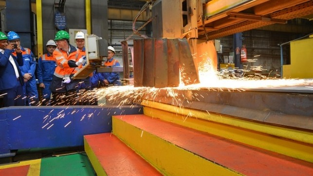 steel cutting ceremony