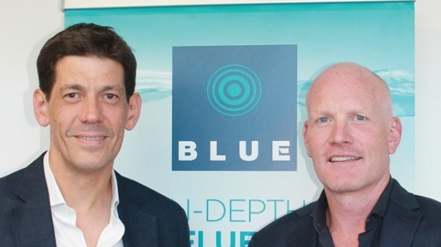 Left to right: Mark Stokes and BLUE Managing Director, Alisdair Pettigrew