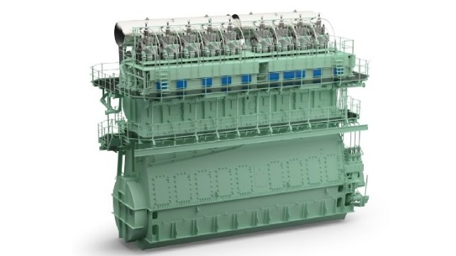 The WinGD X82-D engine For larger two-stroke vessels is Dual Fuel (DF)
