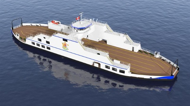 The new Kootenay Lake ferry will operate with Wärtsilä's hybrid propulsion to minimise its environmental impact. © British Columbia Ministry of Transportation and Infrastructure