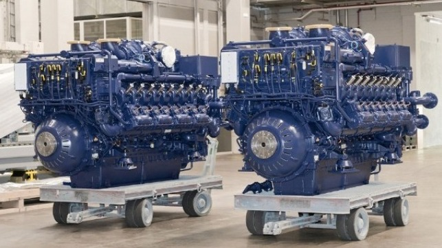 world's first LGN fueled tug boat using Rolls-Royce gas engines