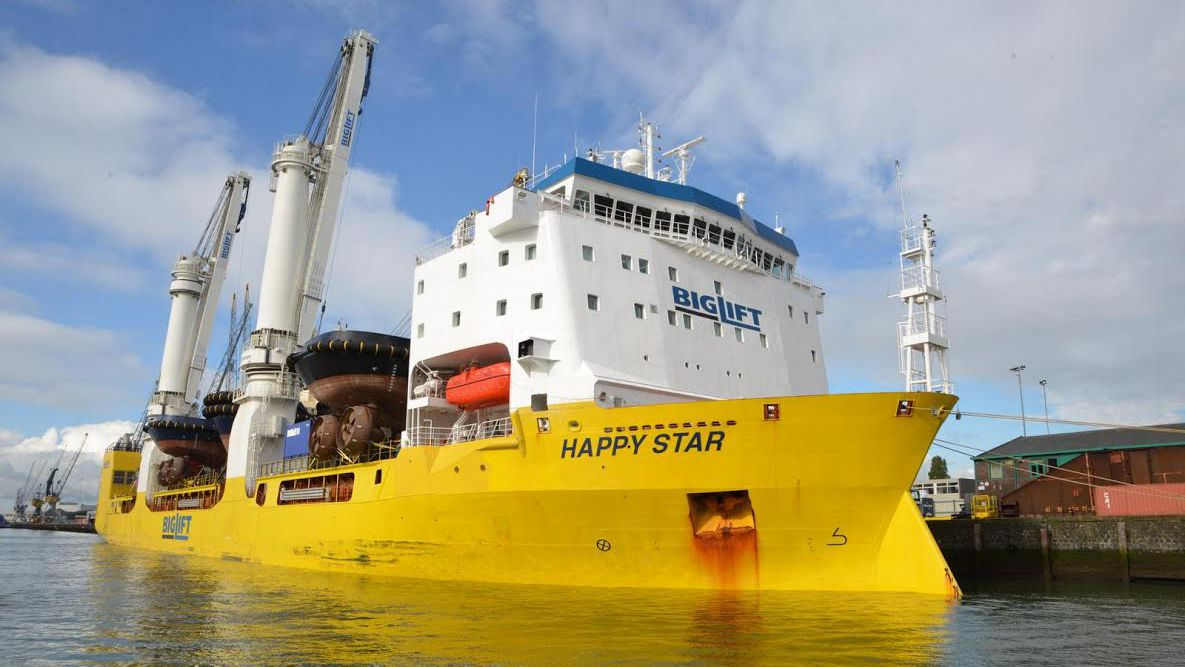 Happy Star with 22 Damen Vessels Arrives in Rotterdam