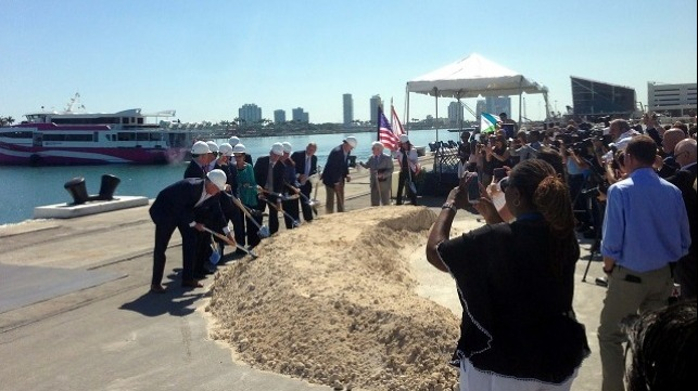 Ceremonial Groundbreaking at PortMiami. Credit: Steve Perry