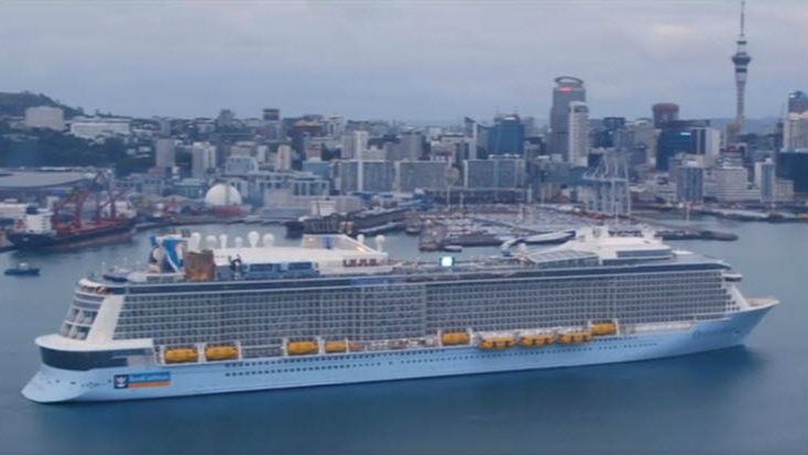 Auckland Ovation Of The Seas Passengers Ferried To Shore