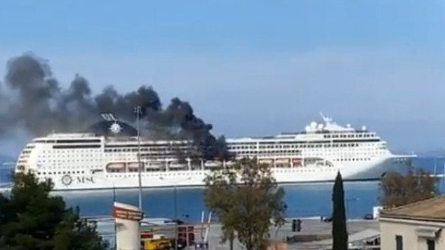 fire on cruise ship
