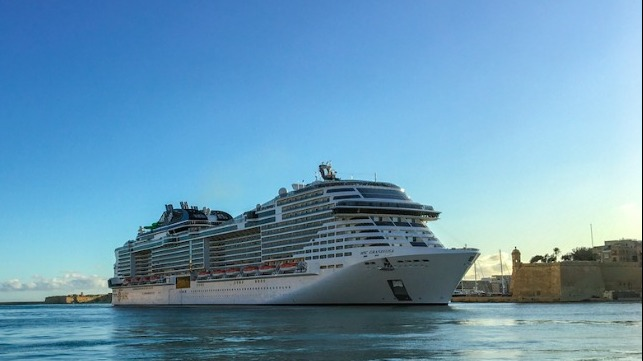 first international cruise ship port call since the outbreak of the pandemic