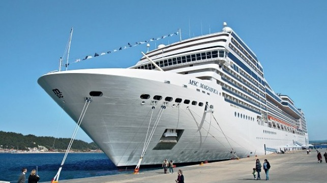 file photo of MSC Magnifica docked - credit MSC Cruises
