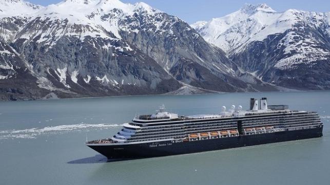Westerdam in Alaska courtesy of Holland America Line.