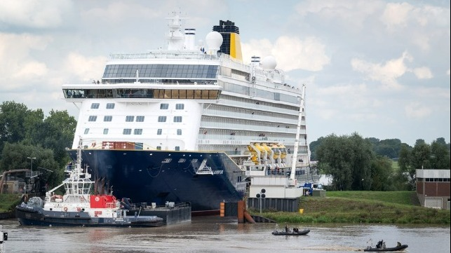 new cruise ship Spirit of Adventure on sea trials