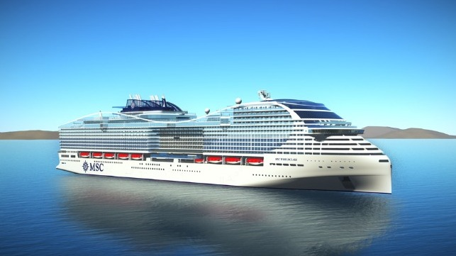 MSC Cruises celebrated the beginning of assembly of its large new cruise ship
