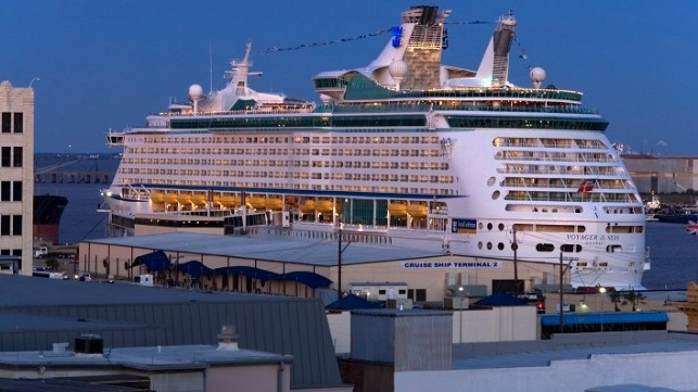Voyager of the Seas at Port of Galveston. Credit: Robert Mihovil
