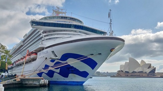 file photo of Ruby Princess in Sydney