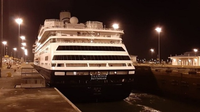 Zaandam transiting the Panama Canal