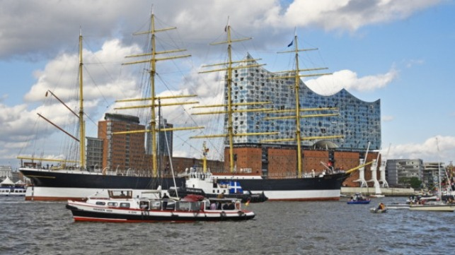 historic sailing cargo ship restored in Hamburg