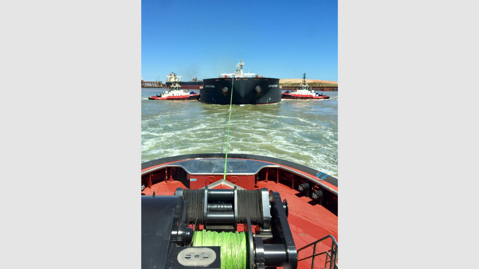 Markey DESF-48-400HP winch onboard M/V