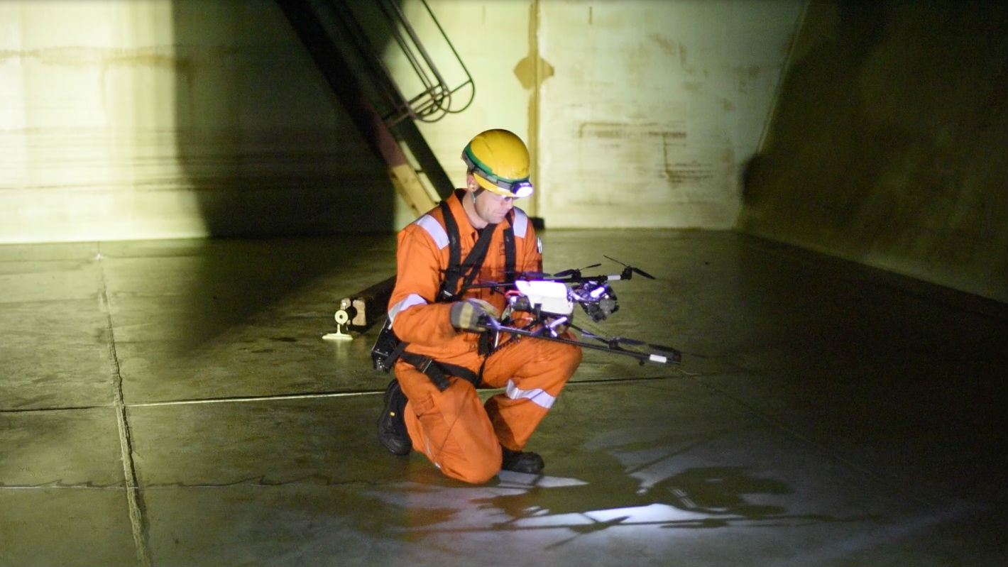 World First: Drone Inspects Oil Tank on FPSO