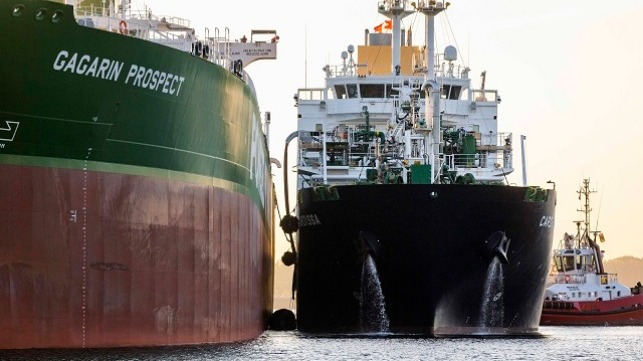 ship-to-ship LNG bunkering from Cardissa