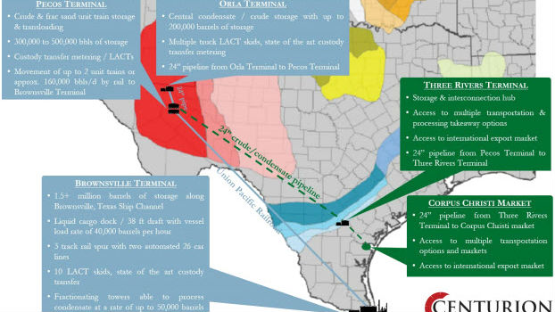 New crude export terminal for texas