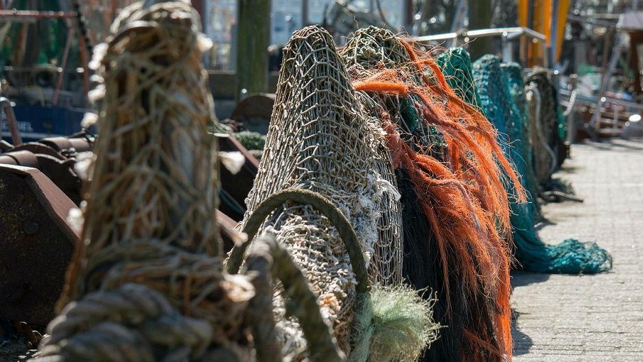 Fishing Nets on Dock
