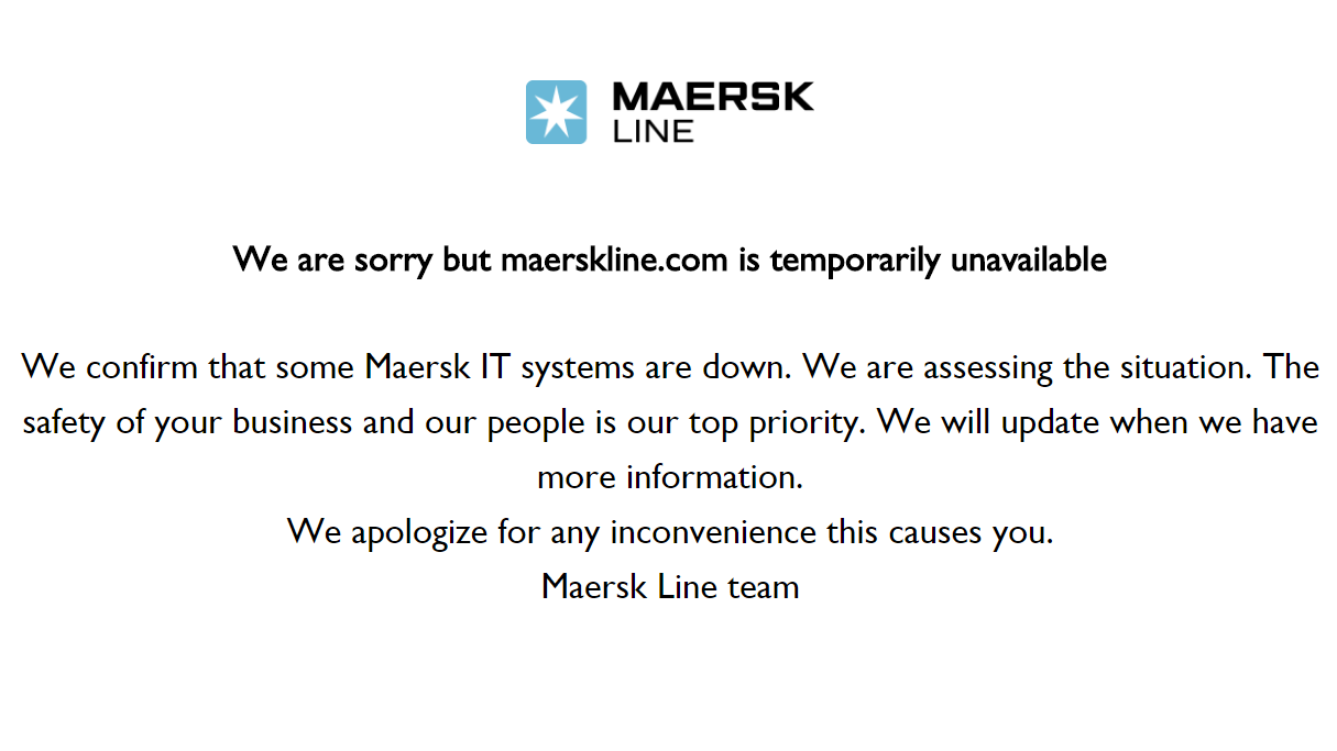 Maersk hit by cyber attack