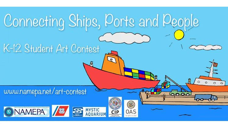 Connecting Ships, Ports and People Art Contest Logo
