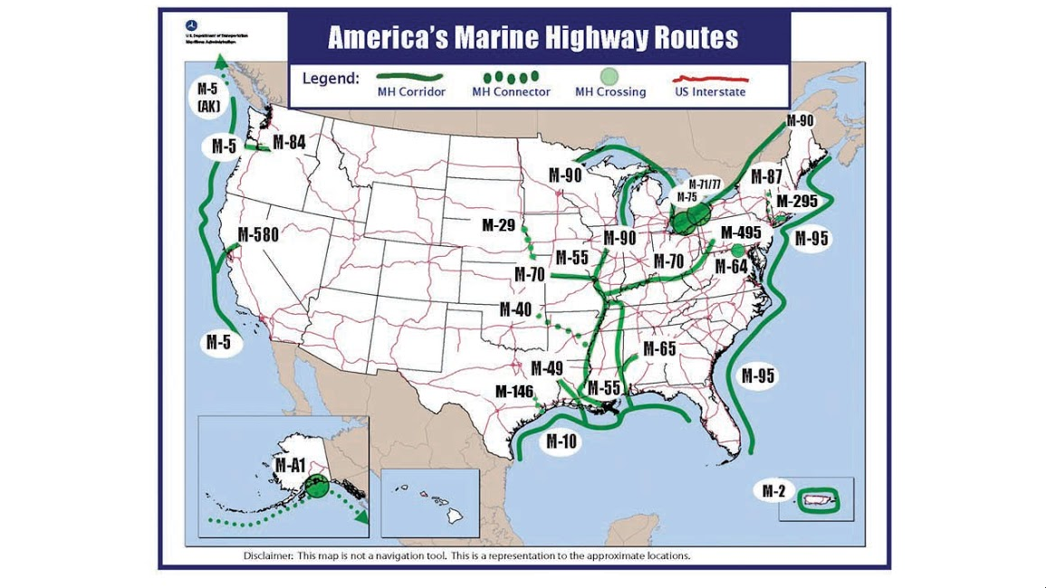 Barge Music - Us inland waterways map