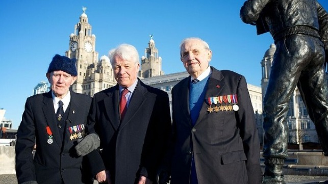 L-R BOA veteran Jim Rainsford, campaign chairman Vice Admiral Mike Gretten and veterin Graeme Cubbin