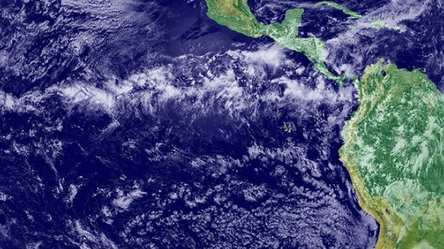 This NASA satellite image shows the Inter-Tropical Convergence Zone, known to sailors around the world as the doldrums.