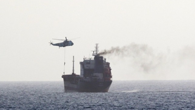 Iranian forces board tanker in the Persian Gulf