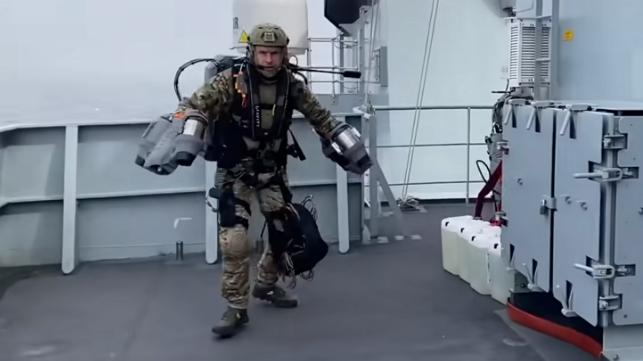 Royal marines jetpack