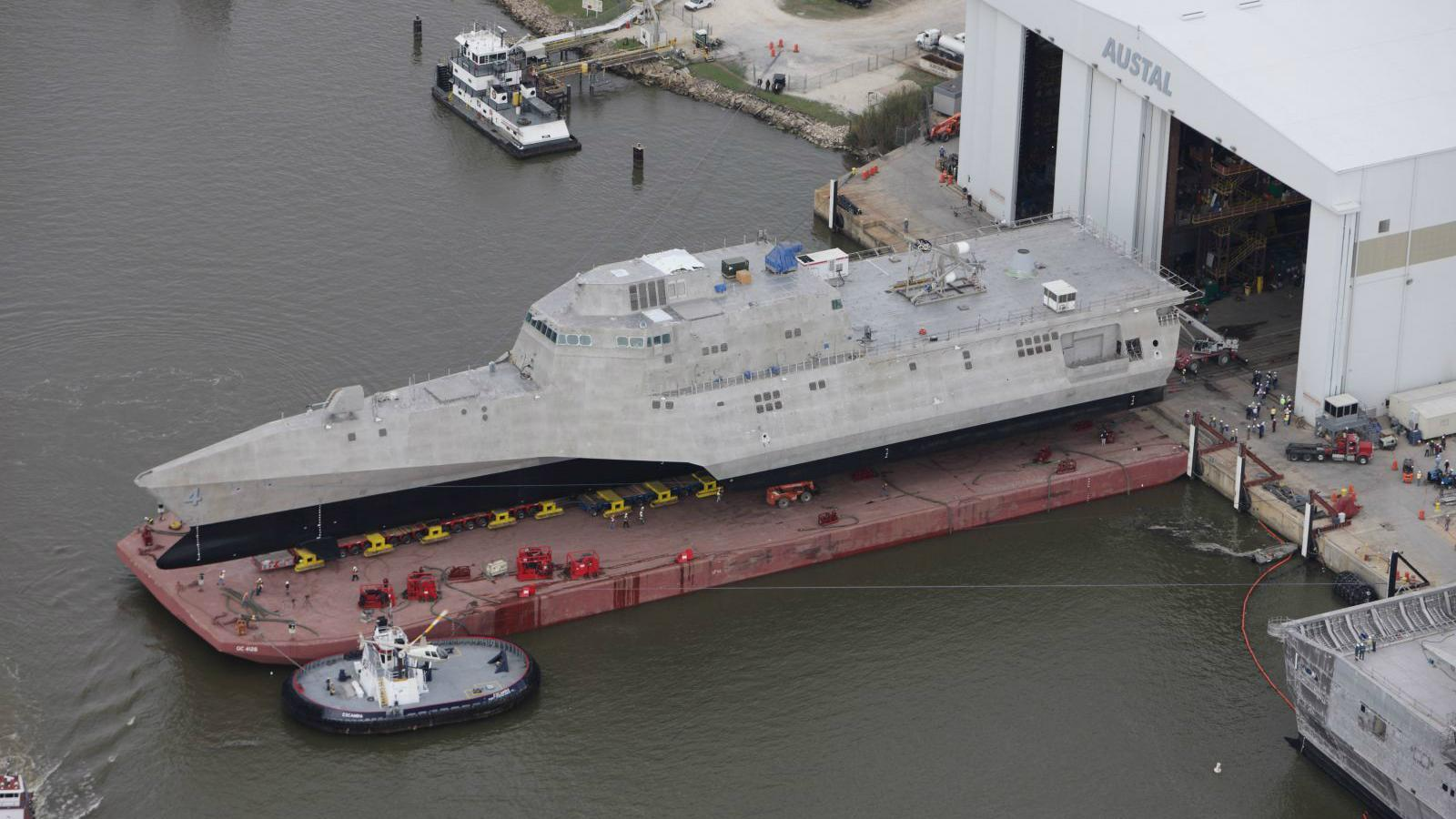 LCS 4 rolled out at Austal