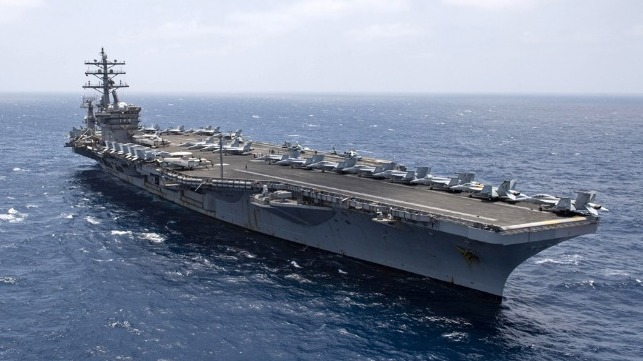 USS Dwight D Eisenhower and San Jacinto set new record longer number of days at sea for U.S. Navy