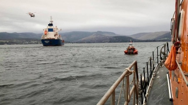 Coastguard and RNLI coordinate medevac off Scotland