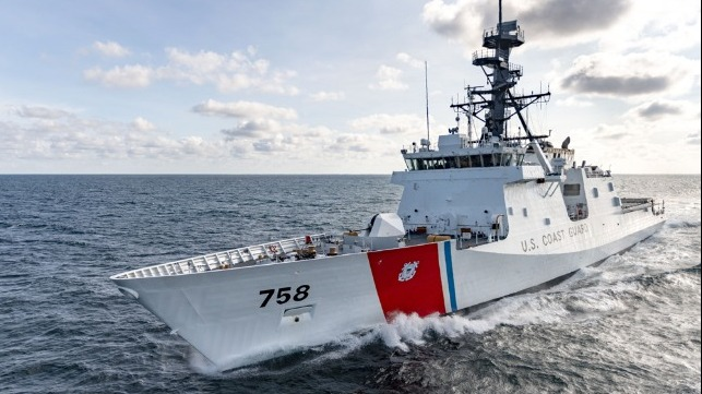 newest USCG cuter undergoes sea trials