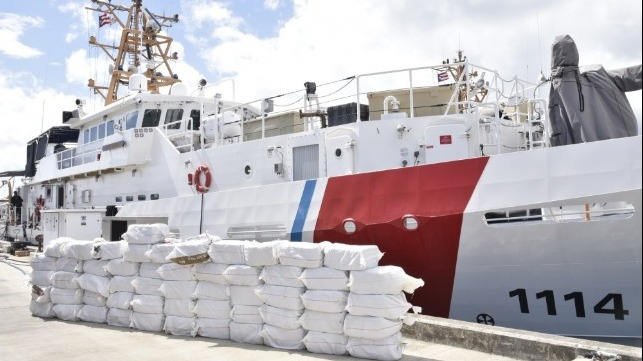 Coast Guard seizes cocaine in the Caribbean worth $38.5 million