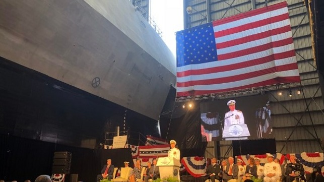 USS Kansas City Christening