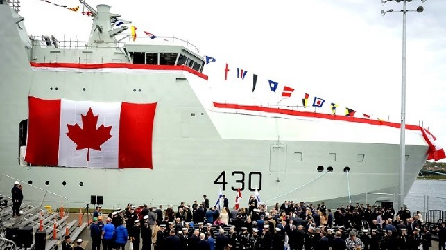 Naming ceremony for HMCS Harry DeWolf