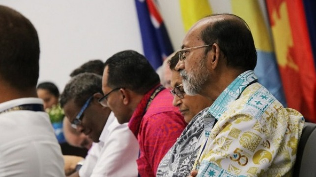 Attendees at the Pacific Islands Forum