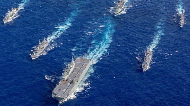 Ships participating in RIMPAC 2018