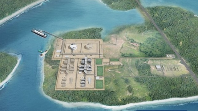 Artistic impression of Texas LNG's planned liquefaction facilities