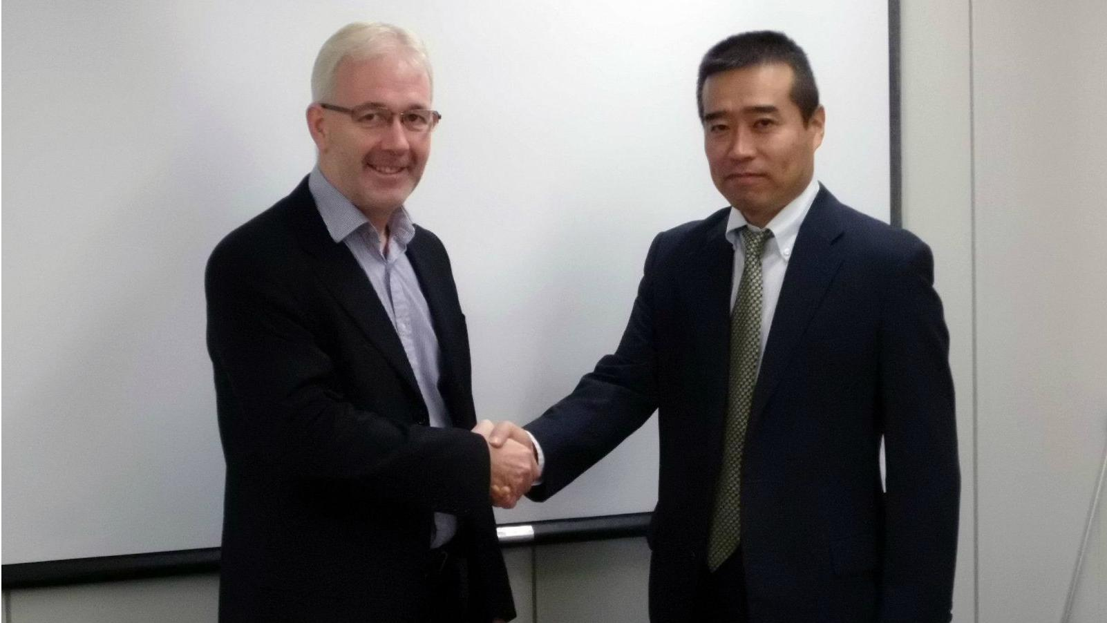 Wartsila and Harison Sangyo representatives