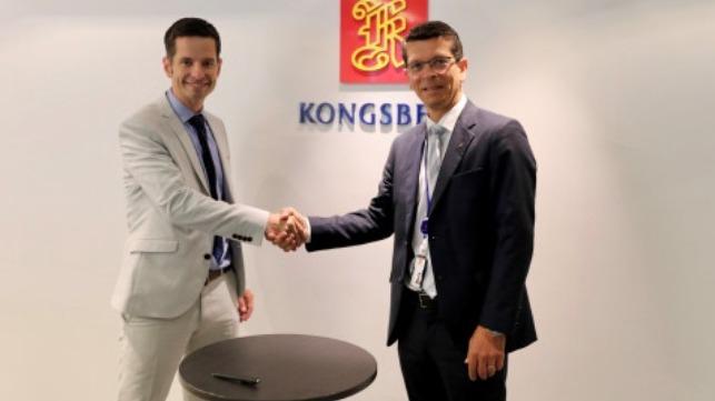 Kongsberg CEO Geir H??y (right) and Tristan Halford-Maw, Deputy Director, M&A Rolls-Royce