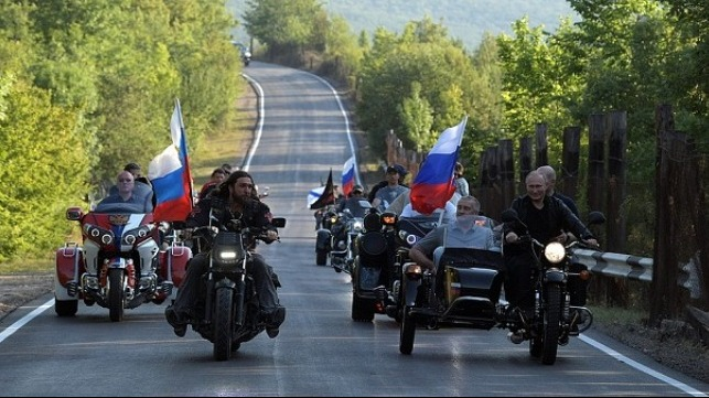 Vladimir Putin takes part in biker festival
