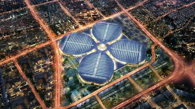 The National Exhibition and Convention Center in Shanghai.