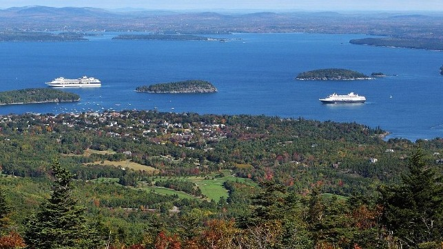 Bar Harbor Maine limits cruise ship calls