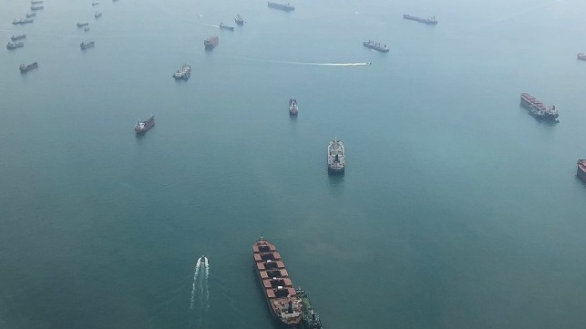 singapore strait anchorage