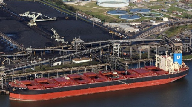 infrastructure investments help Mobile to load record coal shipment